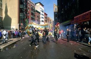 チャイナタウンの新年1月31日の写真素材 [FYI03973081]