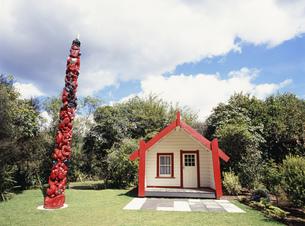マオリ族の家 復元モデル ワイラケイ・テラスの写真素材 [FYI03973288]
