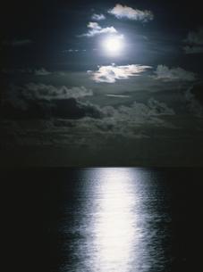 月光と海 4月 オルベリ島  モルディブ共和国の写真素材 [FYI03973305]