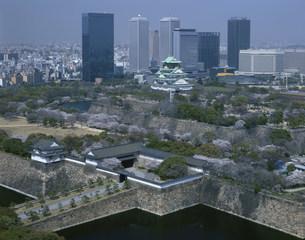 大阪城とOBPの写真素材 [FYI03973354]