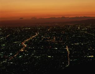 生駒山上より大阪の夜景の遠望の写真素材 [FYI03974161]
