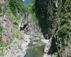 清津峡パノラマステーションより望む景色の写真素材 [FYI03974638]