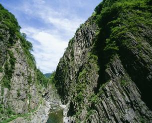清津峡パノラマステーションより望む景色の写真素材 [FYI03974644]