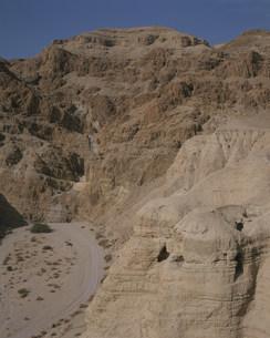 クムラン死海写本発見の洞窟の写真素材 [FYI03974676]