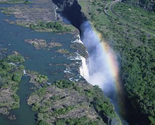 空からのビクトリアの滝の写真素材 [FYI03974738]