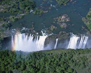 空からのビクトリアの滝の写真素材 [FYI03974743]
