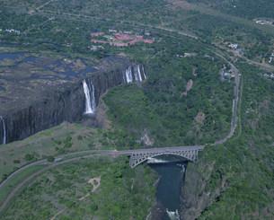 空からのビクトリアの滝の写真素材 [FYI03974744]