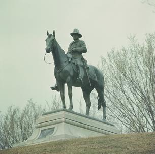 グラント将軍像 ヴィックスバーグ軍事公園の写真素材 [FYI03975872]