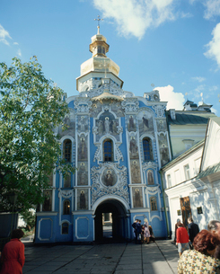 ペチェルスカヤ修道院楼門の写真素材 [FYI03975932]