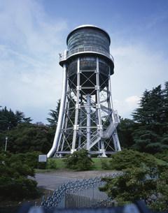前橋市水道資料館の配水塔の写真素材 [FYI03976164]