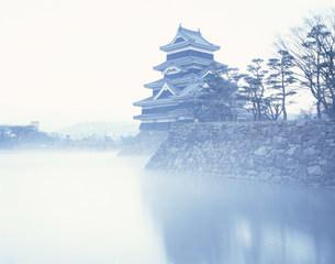 初冬の松本城の写真素材 [FYI03976314]