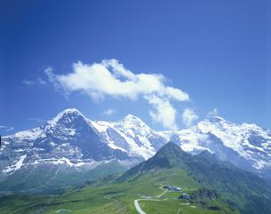 ヴェッターホルン 7月 グリンデルワルト スイスの写真素材 [FYI03977393]