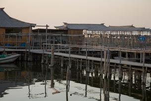 陽澄湖の蟹養殖場の写真素材 [FYI03977756]