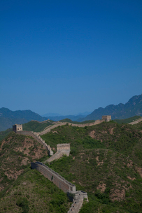 万里の長城の金山嶺長城の写真素材 [FYI03977821]