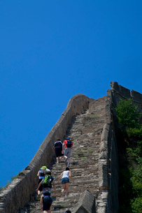 万里の長城の金山嶺長城の写真素材 [FYI03977847]