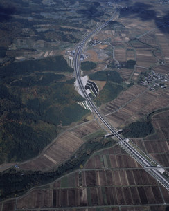 山形道の櫛引パーキングの写真素材 [FYI03977959]