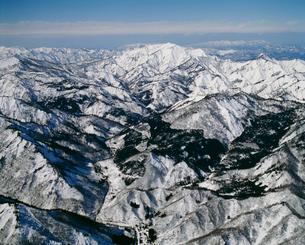 金山町と御神楽岳の写真素材 [FYI03978039]