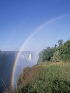 ビクトリア滝と虹の写真素材 [FYI03978497]