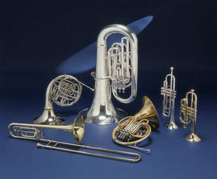 金管楽器の写真素材 [FYI03981556]