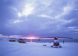 アザラシ観光用ヘリコプターの写真素材 [FYI03981601]