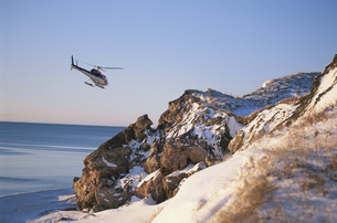 アザラシ見学用ヘリコプターの写真素材 [FYI03981606]
