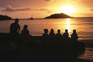 リザード島に沈む夕日の写真素材 [FYI03981769]