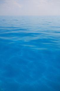 べた凪のバハマの青い海の写真素材 [FYI03981906]
