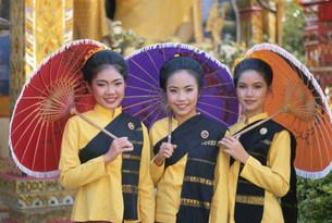 ボーサンの傘祭り参加者の写真素材 [FYI03982050]