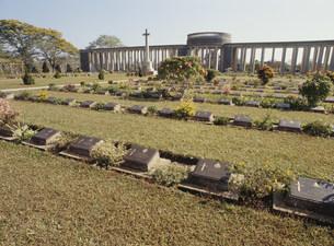 連合軍兵士共同墓地タウチャンの写真素材 [FYI03982086]