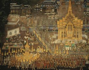 エメラルド寺院 回廊壁画の写真素材 [FYI03982099]