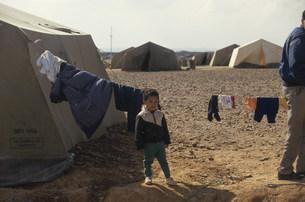 難民キャンプの写真素材 [FYI03983534]