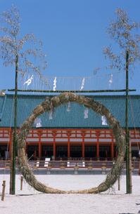 夏越神事の茅ノ輪平安神宮の写真素材 [FYI03983581]