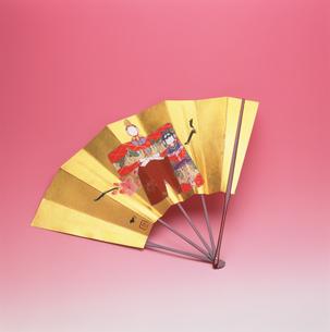 雛祭りの飾り扇の写真素材 [FYI03983591]
