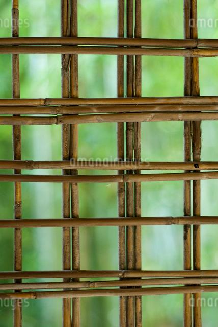 窓の竹組の写真素材 [FYI03983726]