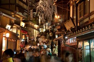 清水寺の産寧坂のライトアップ(花登路)の写真素材 [FYI03983762]