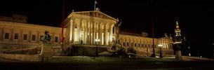 国会議事堂のライトアップの写真素材 [FYI03984916]