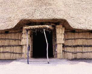 三内丸山遺跡 復元住居出入口の写真素材 [FYI03985083]