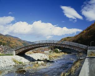 木曽の大橋 奈良井宿の写真素材 [FYI03985117]