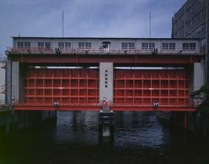 日本橋水門の写真素材 [FYI03985278]