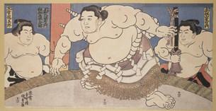 相撲土俵入 国貞のイラスト素材 [FYI03985312]
