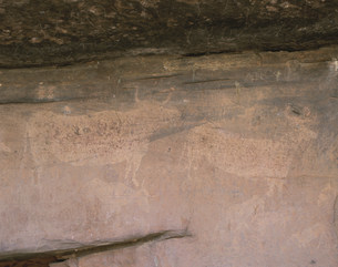 洞窟の壁画の写真素材 [FYI03985411]