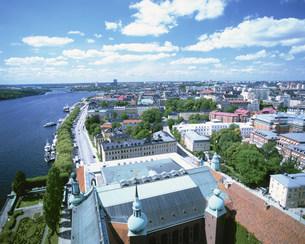 市庁舎と街景の写真素材 [FYI03985417]