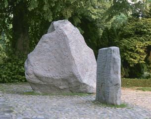 ルーン文字の石碑イエリング町の写真素材 [FYI03985422]