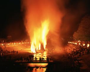 小菅村の火祭りの写真素材 [FYI03985431]