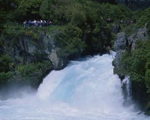 ワイカト川ホカ滝の写真素材 [FYI03985433]