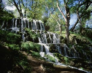 石の修道院 モナステリオ・デ・ビエドラの自然公園の写真素材 [FYI03985448]