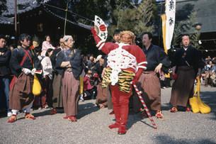 鬼祭 安久美神戸神明社の写真素材 [FYI03987836]
