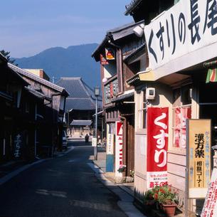 東海道・関宿の町並みの写真素材 [FYI03987858]