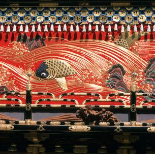 高山祭 琴高台の幕 日枝神社の写真素材 [FYI03987916]