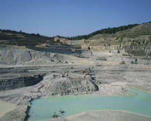 陶土採掘場の写真素材 [FYI03988319]